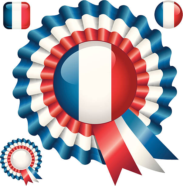 french rosette - russelltatedotcom stock illustrations