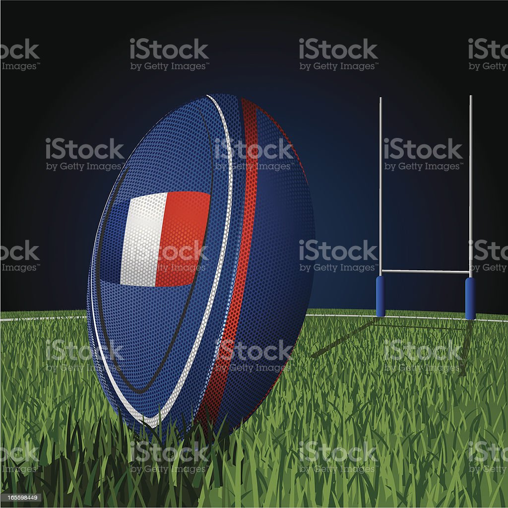 French Rugby field royalty-free french rugby field stock vector art & more images of ball