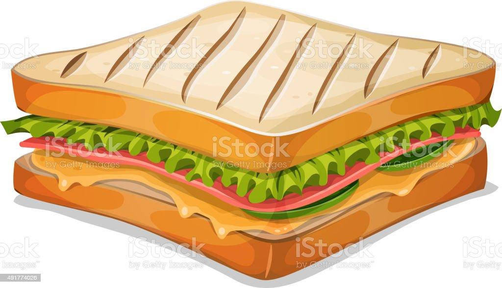 French Sandwich Icon vector art illustration