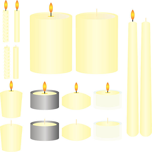 French Vanilla Candles vector art illustration
