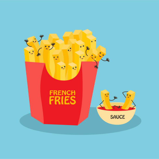 stockillustraties, clipart, cartoons en iconen met french_fries - friet