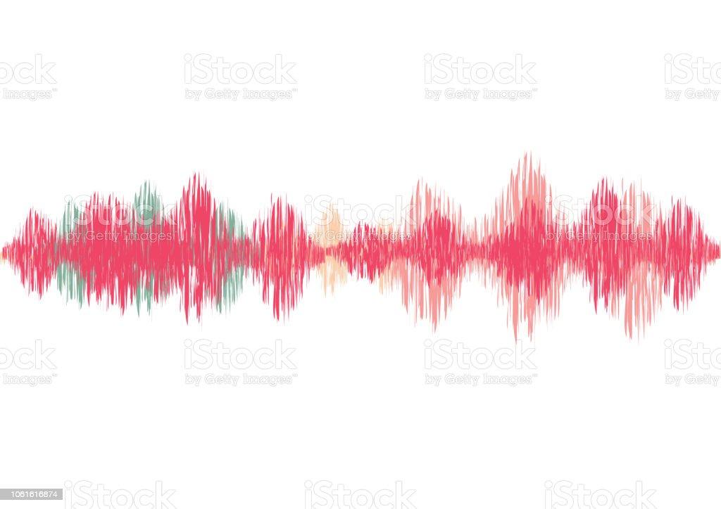 Frequency Equalizer Vector Illustration Sound Volume Wave