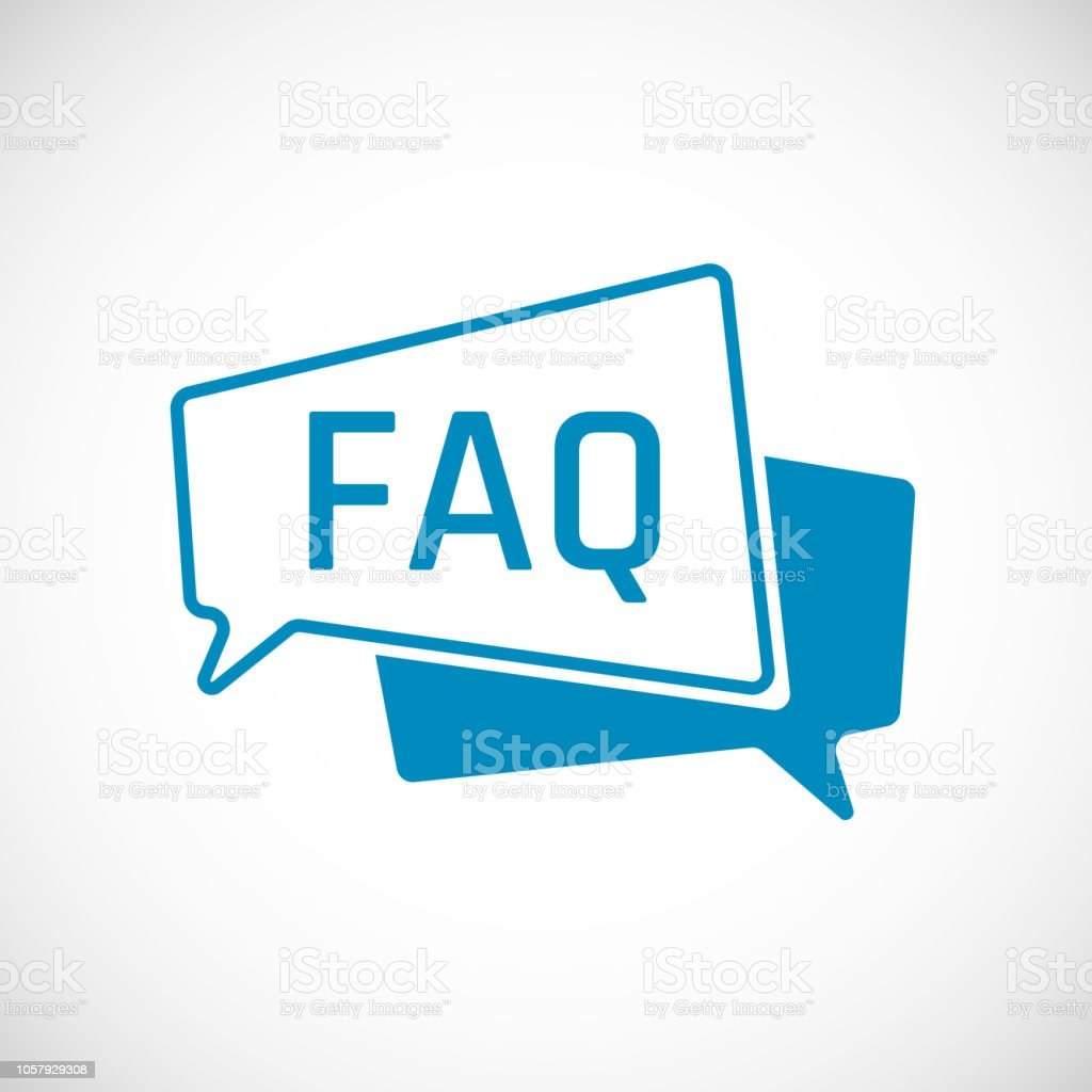 FAQ. Frequently Asked Question as Speech bubble Icon. Element of web icon for mobile concept and web apps. Vector illustration