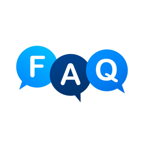 ilustraciones, imágenes clip art, dibujos animados e iconos de stock de preguntas frecuentes banner faq. ordenador con iconos de preguntas. ilustración de material vectorial. - faq