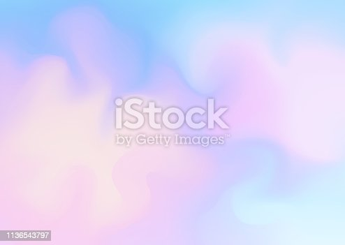 istock Fresh abstract background in blue and pink colors. 1136543797
