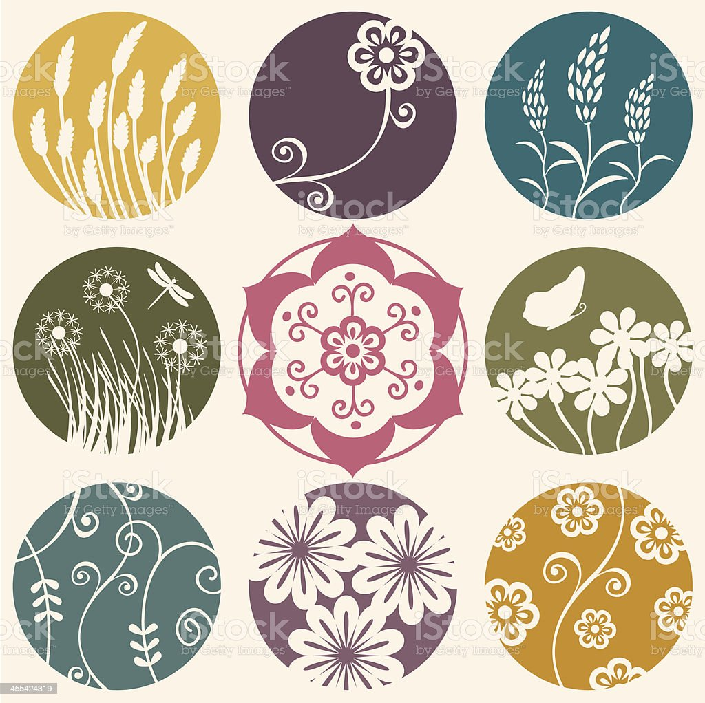 Fresh Air Flower Circles royalty-free stock vector art