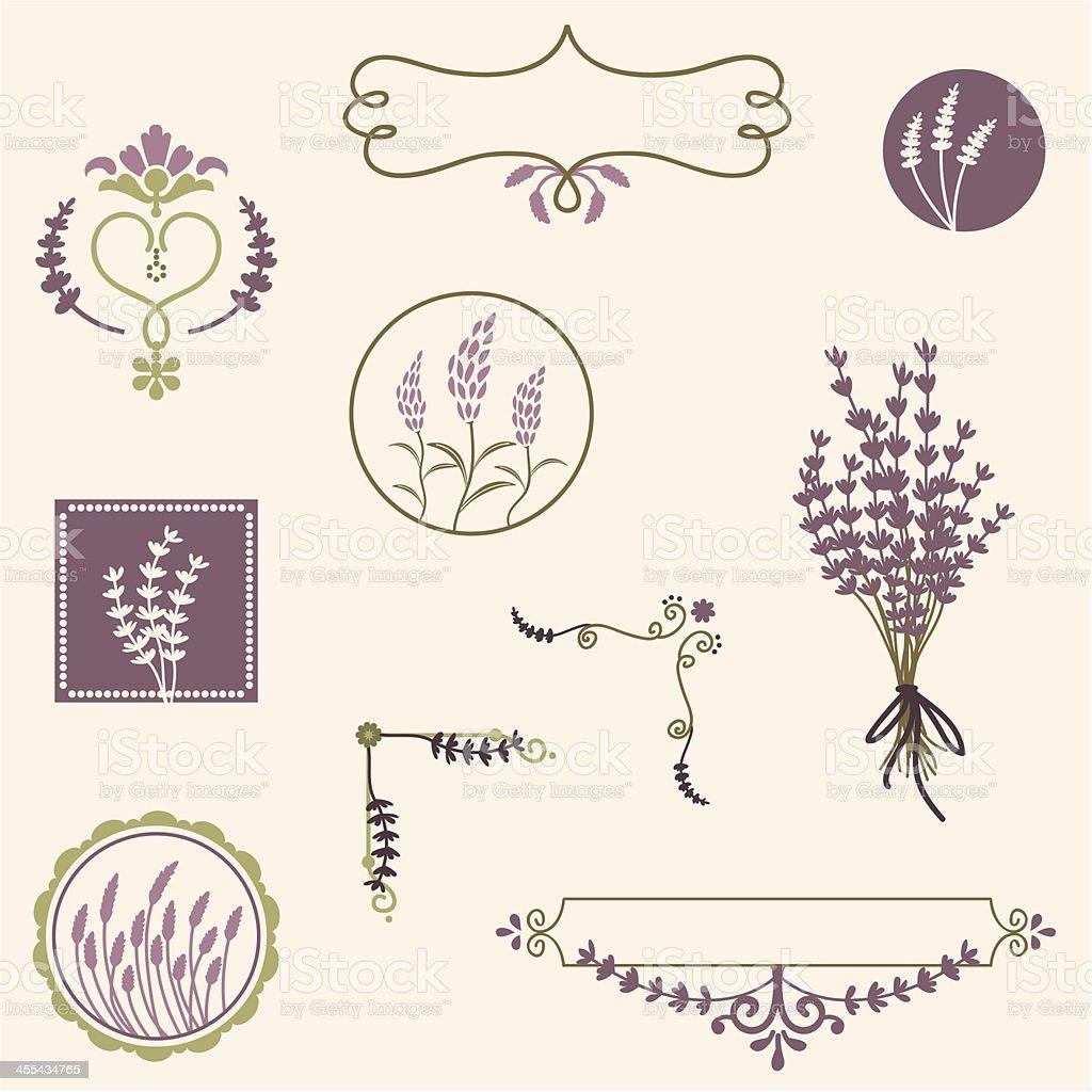 Fresh Air Lavender vector art illustration