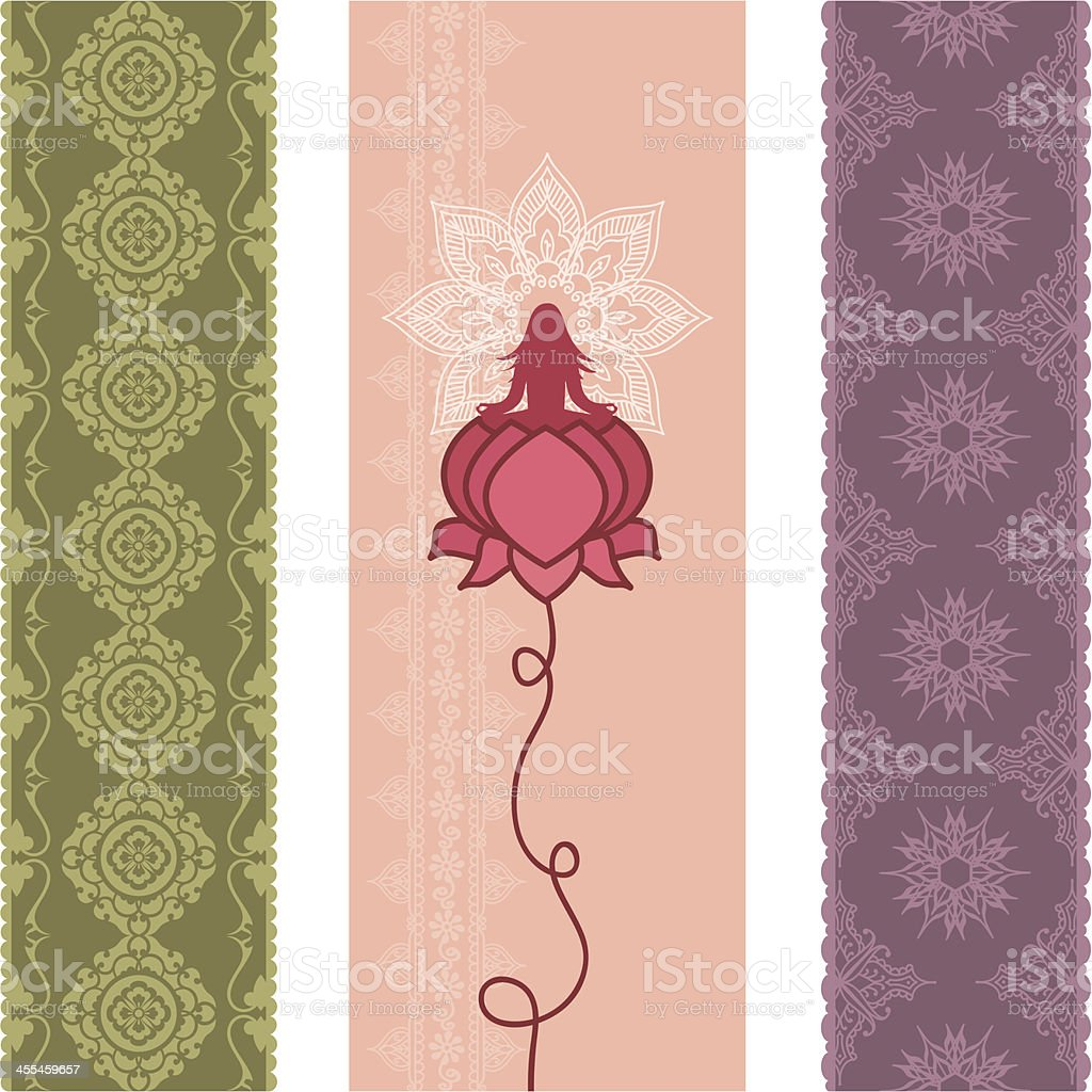 Fresh Air Lotus Banners vector art illustration