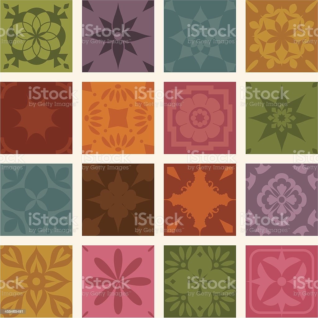 Fresh Air Mini Tiles royalty-free stock vector art