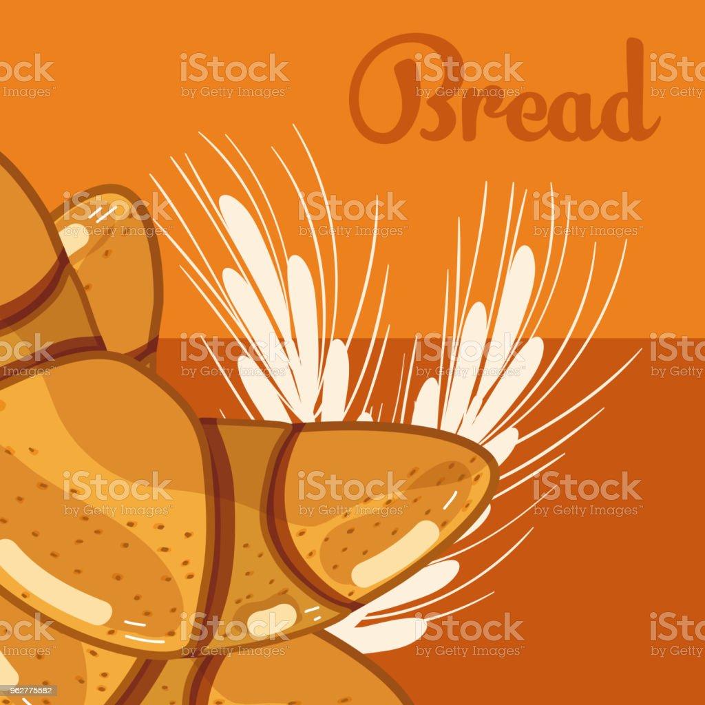 Fresh and delicious breads - arte vettoriale royalty-free di Alimentazione sana