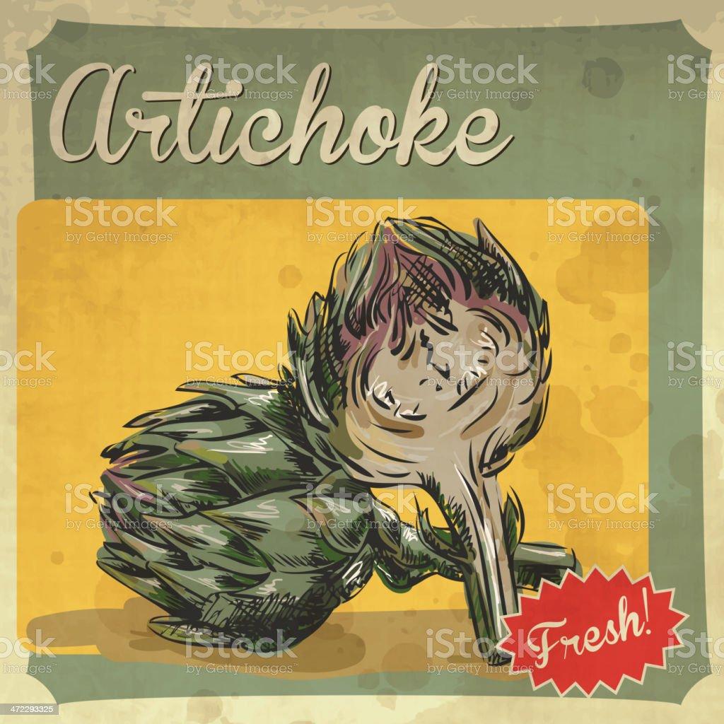 Fresh artichoke royalty-free stock vector art