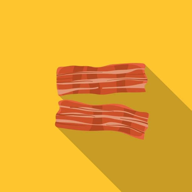 Fresh Bacon Meat Icon vector art illustration