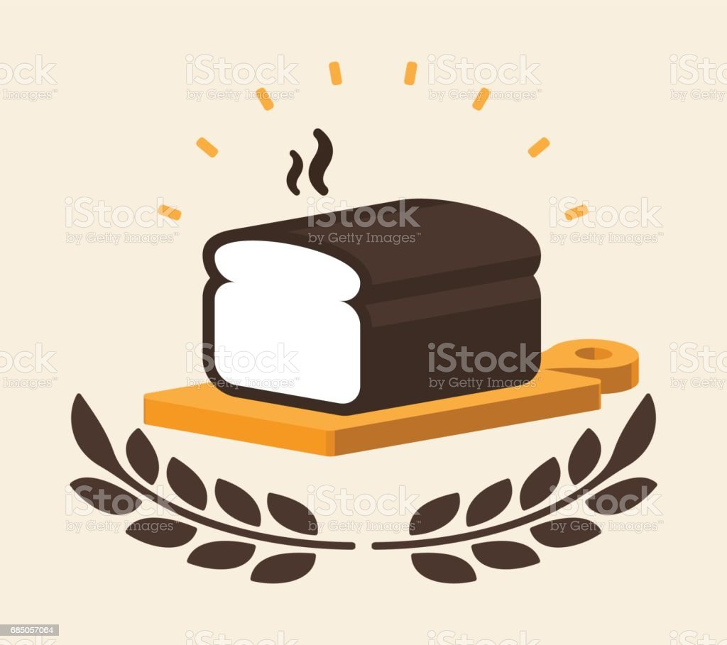 Fresh Bread vector art illustration