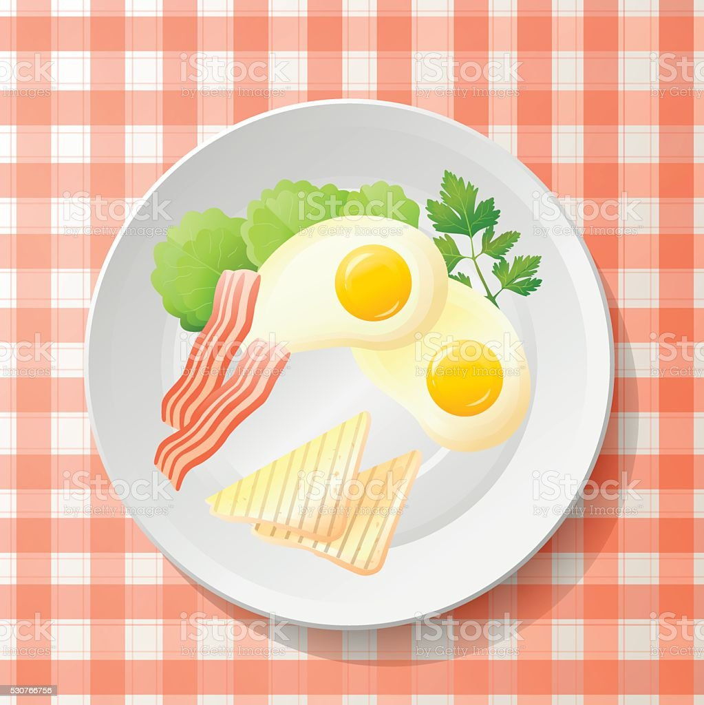 Fresh breakfast vector art illustration