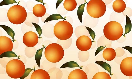 Fresh citrus fruits isolated vector pattern illustration