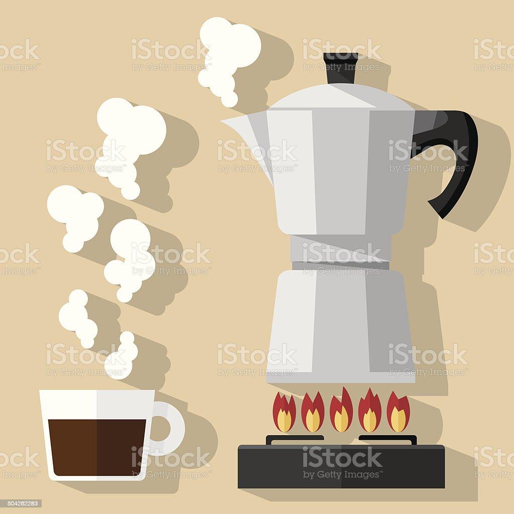 Fresh Coffee vector art illustration