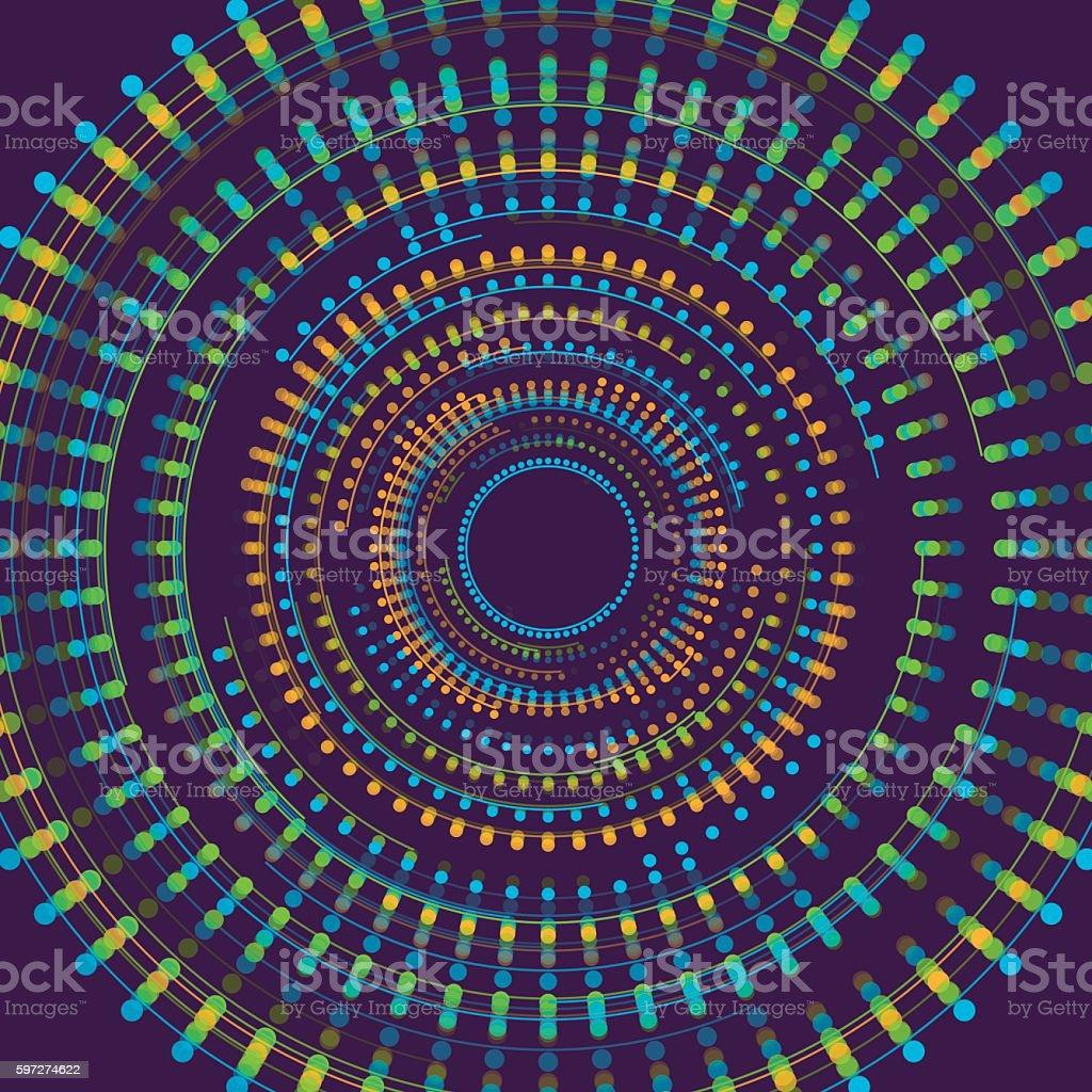 Fresh Concentric Geometric Vector Graphic Lizenzfreies fresh concentric geometric vector graphic stock vektor art und mehr bilder von abstrakt