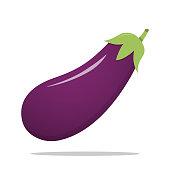 istock Fresh Eggplant vegetable isolated illustration Icon 1208328538