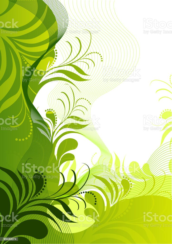 fresh Floral Elements royalty-free stock vector art