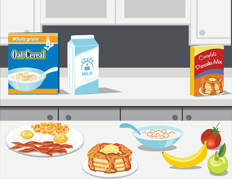 Fresh Foods And Cooking with Breakfast Items
