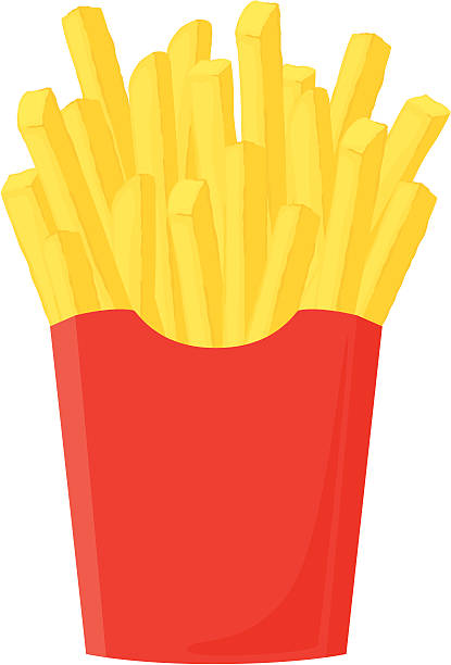 stockillustraties, clipart, cartoons en iconen met fresh french fries - incl. jpeg - friet