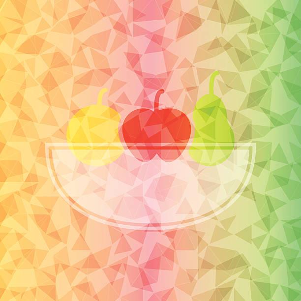 Fresh fruit basket on dazzled triangle background Fresh fruit basket on dazzled triangle background, stock vector dazzled stock illustrations