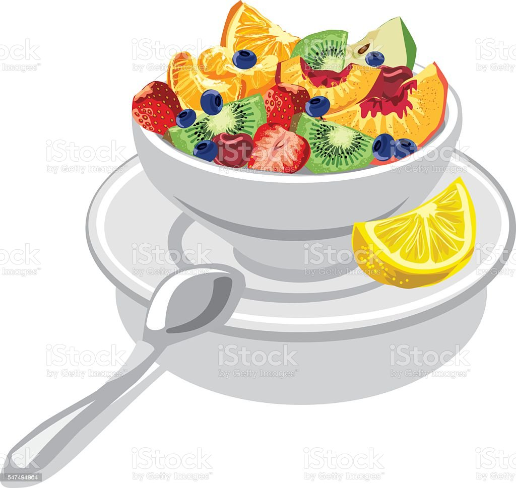 fresh fruit salad stock vector art more images of apple fruit rh istockphoto com fruit salad clipart black and white fruit salad clipart free