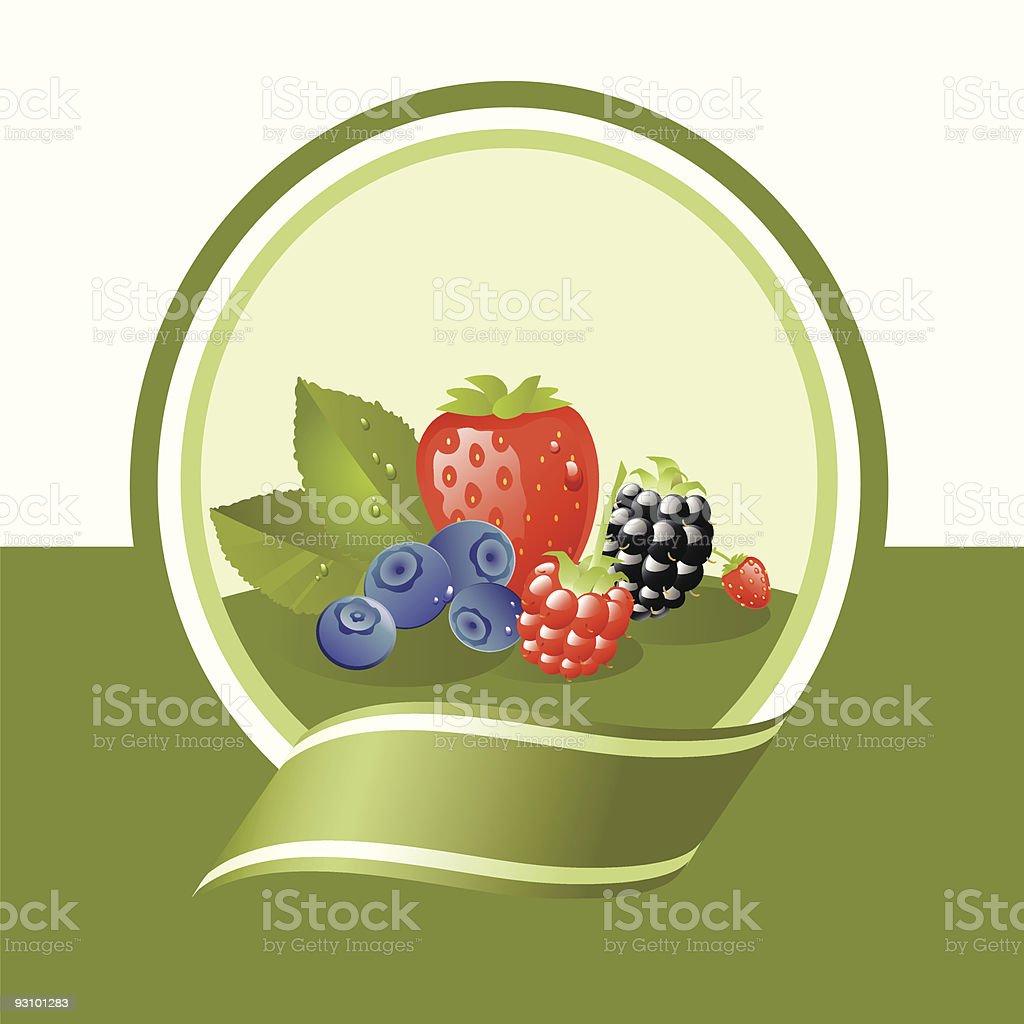 fresh fruits label royalty-free stock vector art