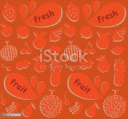 fresh fruits retro background