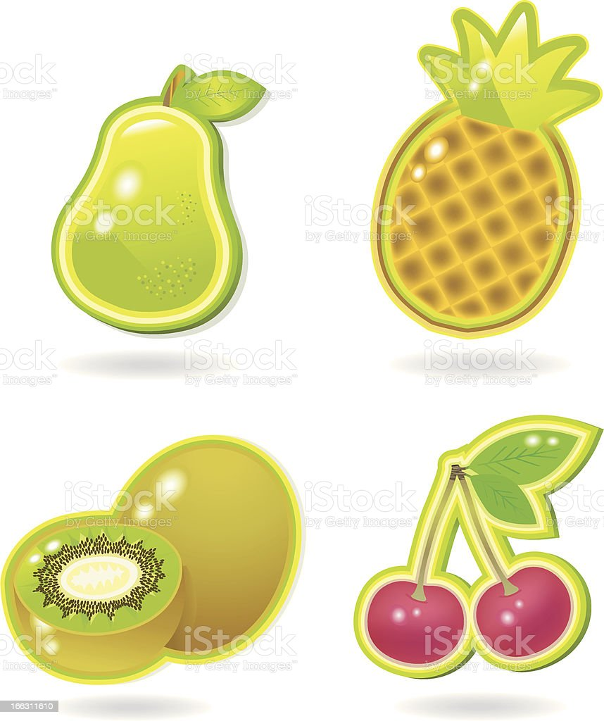 Fresh glossy Fruits III. royalty-free stock vector art