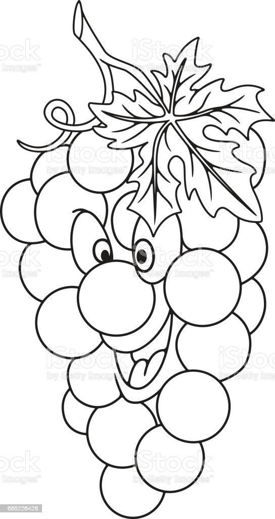 Fresh grapes cartoon fresh grapes cartoon - arte vetorial de stock e mais imagens de agricultura royalty-free