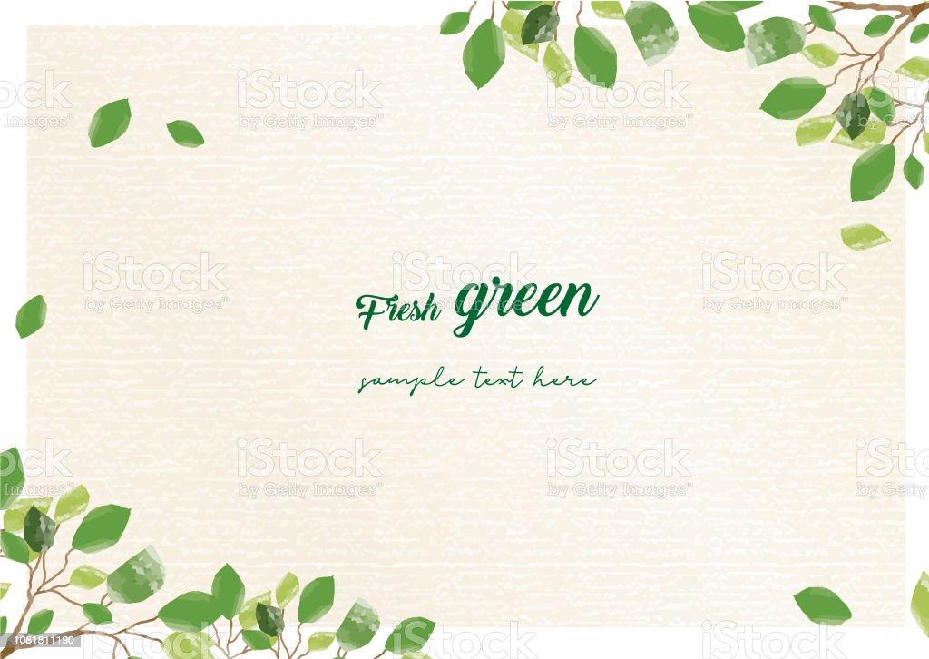 Frischer grüner Rahmen - Lizenzfrei Ast - Pflanzenbestandteil Vektorgrafik
