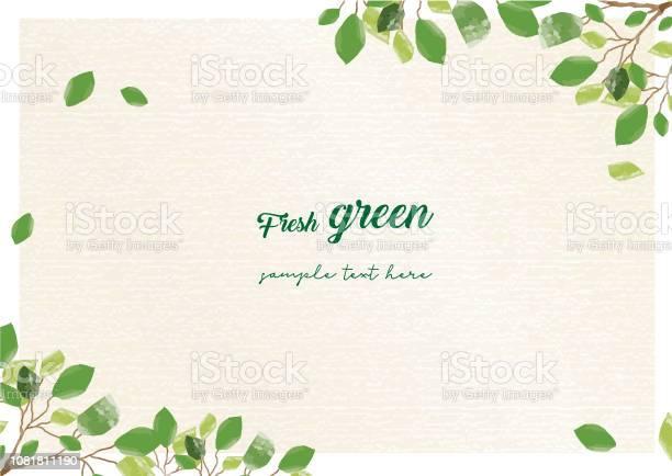 Frischer Grüner Rahmen Stock Vektor Art und mehr Bilder von Ast - Pflanzenbestandteil