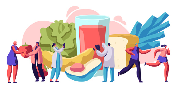 Healthy food and drink stock illustrations