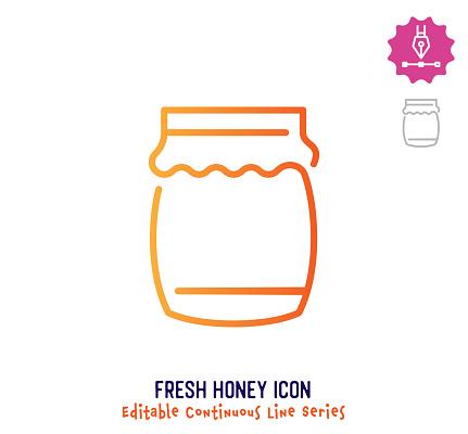 Fresh Honey Continuous Line Editable Stroke Line