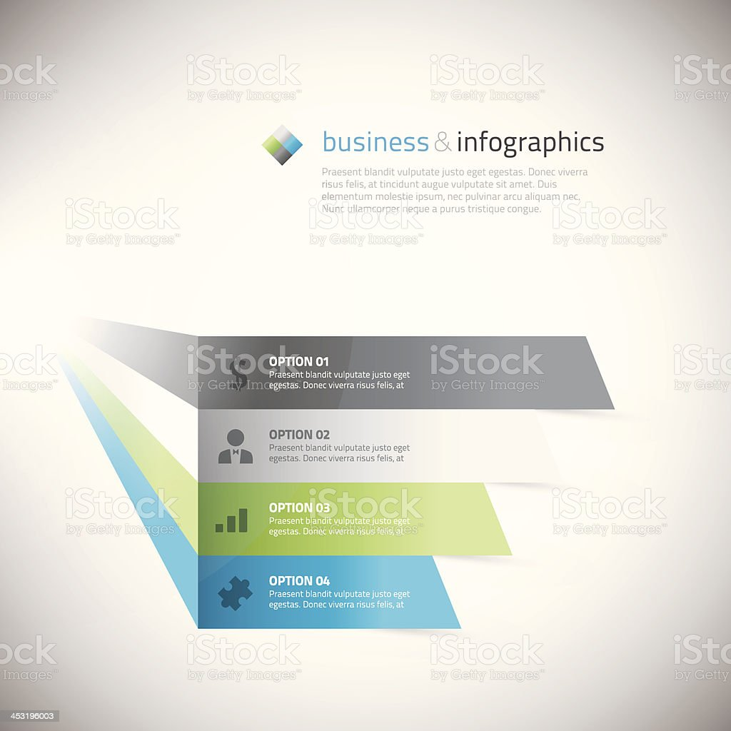 Fresh infographic boxes with icons vector illustration vector art illustration