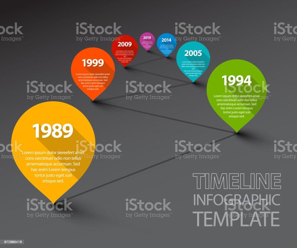 Ilustración de Plantilla De Línea De Tiempo Infografía Fresco Con ...
