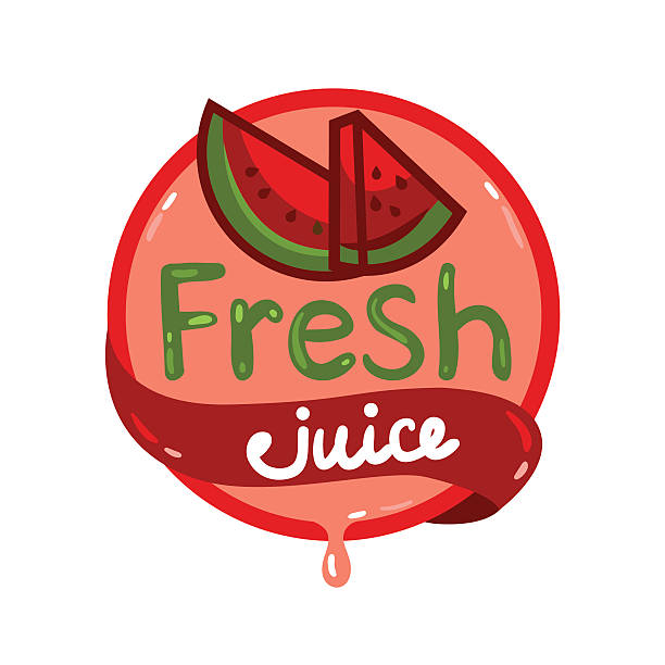 fresh juice emblem 11 vector art illustration