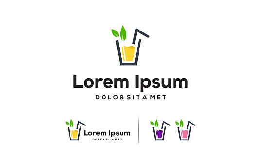 Fresh Juice logo designs concept vector, Sweet Drink logo symbol