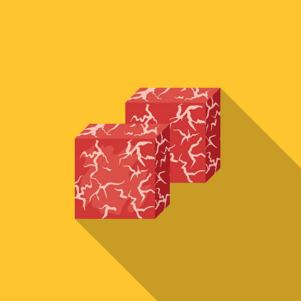 frische kobe-rindfleisch-symbol - kobe stock-grafiken, -clipart, -cartoons und -symbole