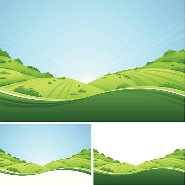 Fresh Landscape vector art illustration