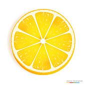 Fresh Lemon Slice Icon On A White Stock Vector Art More Images Of