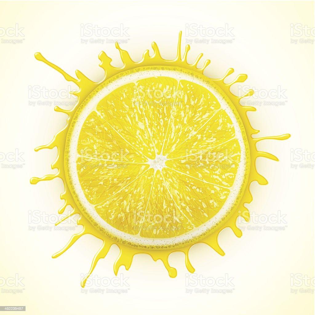 fresh lemon with splash royalty-free stock vector art