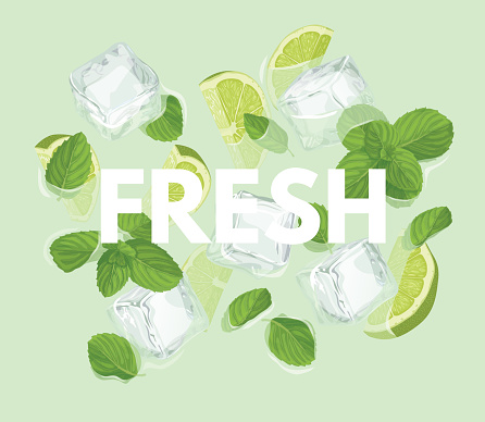 Fresh letter with mojito