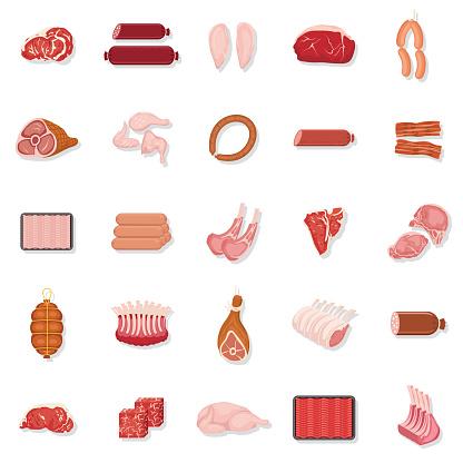 Fresh Meat Icon Set