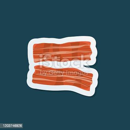 istock Fresh Meat Icon Sticker 1203746926