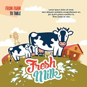 Fresh milk from farm to table