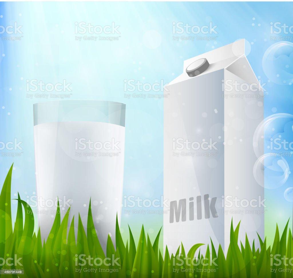Fresh milk royalty-free stock vector art