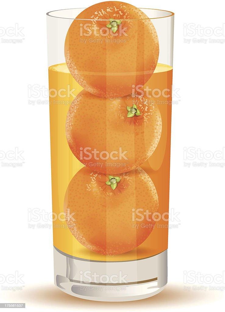 Fresh Orange Juice1 royalty-free stock vector art