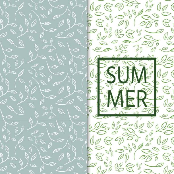 fresh pattern with branches,leaves for organic labels, healthy f - floral and decorative background stock illustrations